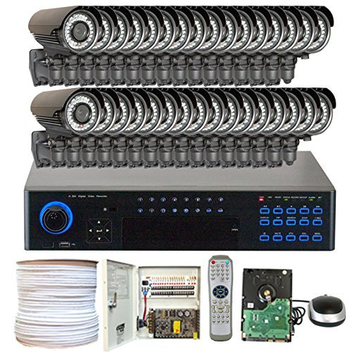 Gw Security 32 Channel (32) Varifocal Zoom 700 Tvl Security Camera 3Tb Dvr Surveillance System - Outdoor / Indoor Vandal Proof & Water Proof 42Pcs Ir Led 131 Ft Ir Night Vision