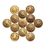 Complete Months Set (12 Total) Bronze AA (Alcoholics Anonymous) – Sober / Sobriety / Birthday / Anniversary / Recovery / Medallion / Coin / Chip