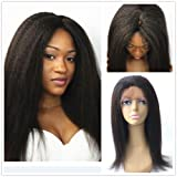 JYL Hair Italian Yaki 360 Silk Top Lace Frontal Wig Pre Plucked Bleached Knots 150% Density Human Hair Wigs For Women 360 Silk Base Wigs with Baby Hair (20