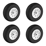uxcell 70mm RC Model Plane Aircraft Foam Wheel Replacement Black Gray 4pcs