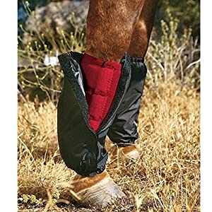 Professionals Choice Equine Sports Medicine Nylon Boot Covers, Pair (Small, Black)