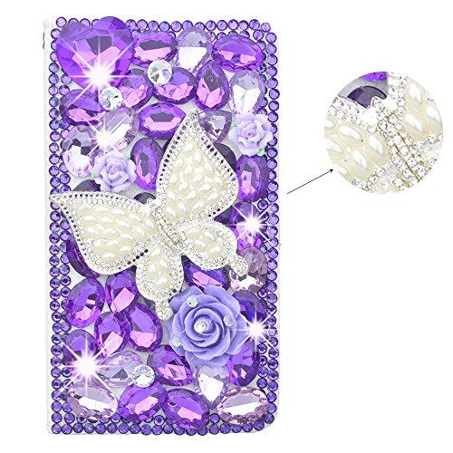 spritechtm-3d-handmade-purple-diamond-design-case-luxury-pu-leather-wallet-case-flip-cover-with-card