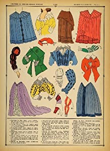 1922 Pochoir Renaissance Costume France Skirt Jacket - Orig. Print (Pochoir)