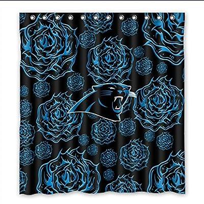 "Needyou Carolina Panthers Shower Curtain Waterproof Polyester Bathroom 66"" x 72"""