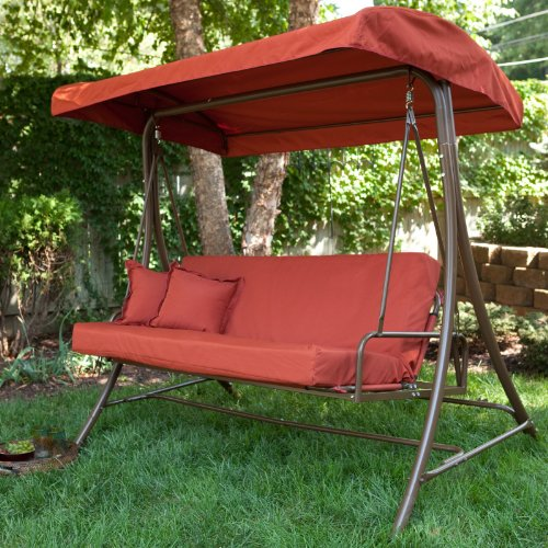 Siesta 3 Person Canopy Swing Bed Terra Cotta Size 75l