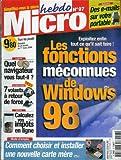 Micro hebdo - n°97 - 24/02/2000 - Les fonctions méconnues de Windows 98...