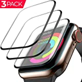 [3 Pack] Apple Watch Screen Protector (42mm for Series 3/2/1) 3D Tempered Film Max Coverage Full Screen 99% Clear Max Coverage Anti-Bubble iWatch Screen Protector 42mm (Color: [3 Pack] 42mm)