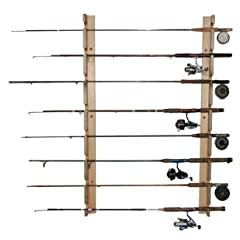 Fishing Rod Storage Rack Horizontal (PINE) (48H x 3W x 3D)