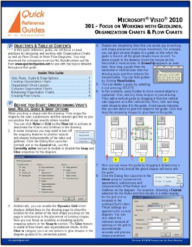 MICROSOFT VISIO 2010 Professional & Standard Quick Reference Guide: Focus on Working with Gridlines, Organization Charts & Flow Charts (301) (Org Chart compare prices)