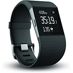 Fitbit Surge Fitness Super Watch with Heart Rate Monitor (Black) - Refurbished