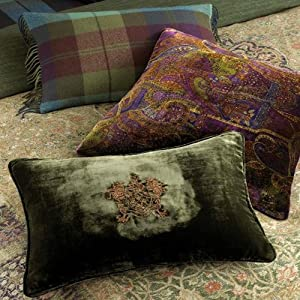 Amazon.com - Lauren Ralph Lauren Rutherford Park Velvet Decorative Throw Pillow-Paisley Pillow