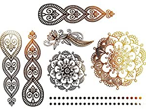 Ornamental Flower Circle Henna Collection Set: Arts, Crafts & Sewing