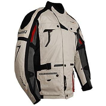 Roleff Racewear 5373 Blouson de Moto  Chicago en Tissu Blanc