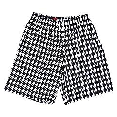 Houndstooth Sublimated Lacrosse Black / White Shorts