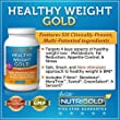 Healthy Weight GOLD, 60 Vegetarian Capsules (Contains Svetol Green Coffee Bean Extract, 7-Keto and GreenSelect Green Tea Extract) The #1 Weight-loss Supplement with SIX Clinically-proven Multi-patented Ingredients from NutriGold
