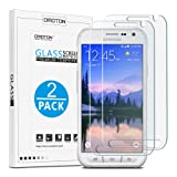 OMOTON [2 Pack] Galaxy S6 Active Screen Protector (Not Fit for Galaxy S6) - Tempered Glass Screen Protector for Samsung Galaxy S6 Active with [9H Hardness] [Crystal Clear] [Scratch Resist] [No-Bubble]