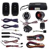 EASYGUARD PKE Car Alarm System with Proximity Lock Unlock Remote Starter Push Button Start Vibration Alarm keyless Start Universal EC009-T2