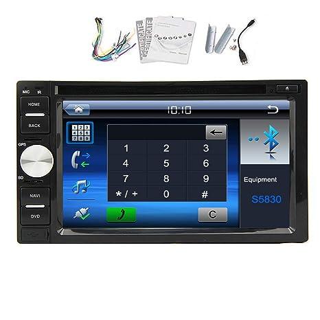Universal 6.2 pouces šŠcran tactile Bluetooth En Dash 2 din stšŠršŠo de voiture lecteur DVD Radio autoradio vidšŠo microphone intšŠgršŠ USB / SD contr?le de la roue de sou