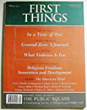 img - for First Things (Number 118, December 2001) book / textbook / text book