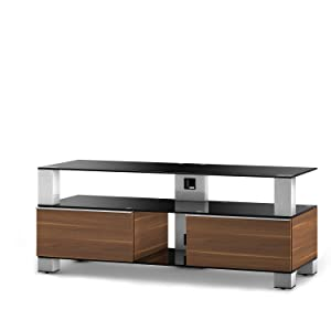 Sonorous MD 9120 B INX WNT Ready Assembled Walnut Cabinet for TV&'s Up To 50 inch       TVreview and more information