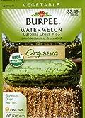 Burpee 67530 Organic Watermelon Carolina Cross 183 Seed Packet