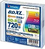 三菱化学メディア Verbatim BD-R XL(Video)<片面3層> 1回録画用 720分 100GB 1-4倍速 5枚5mmケース VBR520YP5V1