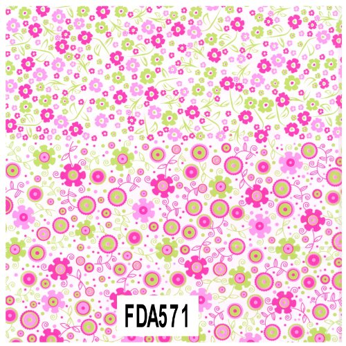 Decopatch Decoupage Paper Mache - Pink And Green Floral 571 F