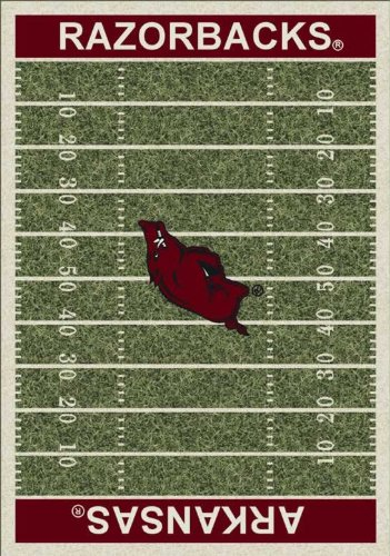 "Arkansas Razorbacks 5 4"" x 7 8"" NCAA Home Field Area Rug at Amazon.com"