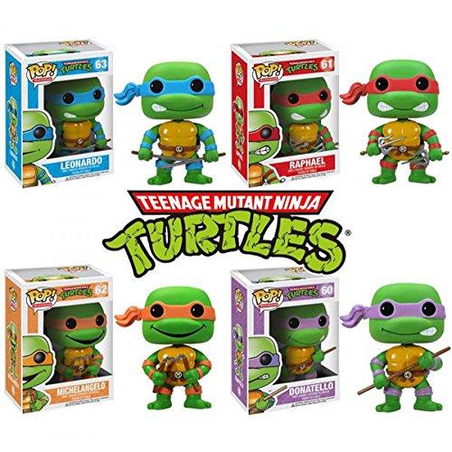 "Cute 4"" TMNT Teenage Mutant Ninja Turtles Leonardo Raphael Michelangelo Donatello Boxed PVC Action Figure Model"