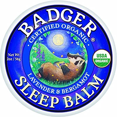 Badger Sleep Balm 2 oz Tin - Lavender and Bergamot (Pack of 4 x 2-oz)