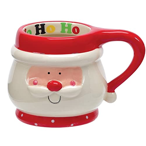 Boston Warehouse Holly Jolly Santa Mug