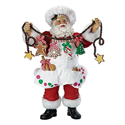 Kurt Adler Fabriche Christmas Chef Santa Figurine 12-Inch