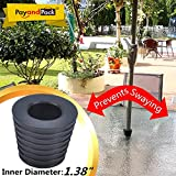 "MYARD Patio Umbrella Hole / Pole Cone Wedge (inner diameter 1 3/8"", Black)"