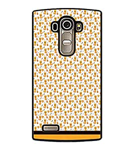 PrintDhaba Kitty pattern D-1779 Back Case Cover for LG G4 (Multi-Coloured)
