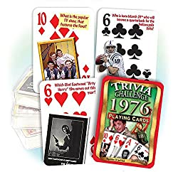Flickback 1976 Trivia Playing Cards: 40th Birthday or 40th Anniversary Gift from Flickback Media, Inc.