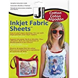 Jacquard Ink Jet Fabric 8.5'' x 11'' Cotton Sheets (20 Pack) (Color: White, Tamaño: 2-Pack)