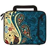 Designer Sleeves 8.9-Inch To 10-Inch Paisley Fashion Tablet Sleeve/iPad Sleeve With Handles Blue (10DSH-PF)