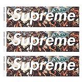 Supreme × UNDERCOVER シュプリーム アンダーカバー BOX LOGO STICKER 3P PACK SET ボックスロゴ ステッカー コラボ BLACK ONE SIZE