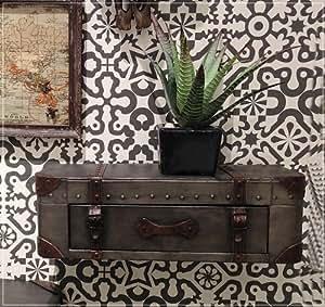 wandregal koffer aus metall mit einer schublade. Black Bedroom Furniture Sets. Home Design Ideas