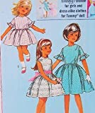 Simplicity 5859 Dress for Girl and Her Fashion Doll Vintage Sewing Pattern Child  Tammy or Barbie Doll