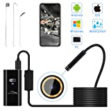 Wireless Endoscope, NAVESTAR WiFi Borescope Inspection Camera Waterproof 1080P FHD Snake Camera for Android and IOS Smartphone, iPhone, Samsung, Tablet (16.4FT)
