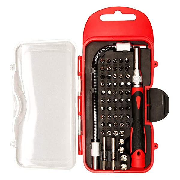 Ultrawall 57pcs Precision Bits Sets with Premium Quality Case, Specialty Screwdriver Tool Kit, Extension Rod for iPhone, Mobile Phone, Game Console, Tablet, PC