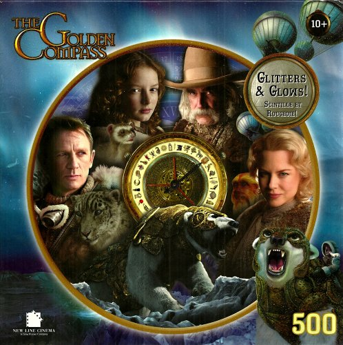 The Golden Compass Around the Compass Gliters & Glows 500 Piece Puzzle - 1
