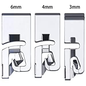 3 Pieces Narrow Rolled Hem Sewing Machine Presser Foot Set Suitable for Household Multi-Function Sewing Machines 3 mm, 4 mm and 6 mm (Set A) (Color: Set A)