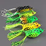 1pc Cute Frog Topwater Fishing Lure Crankbait Hooks Bass Bait Tackle New