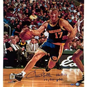 NBA Golden State Warriors Chris Mullin Drive to Basket Right Handed Vertical... by Steiner Sports