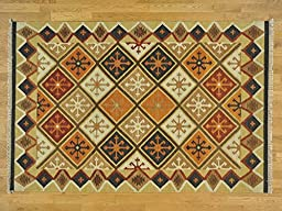 5\'x8\' Flat Weave Durie Kilim Reversible Pure Wool Hand Knotted Oriental Rug G24622
