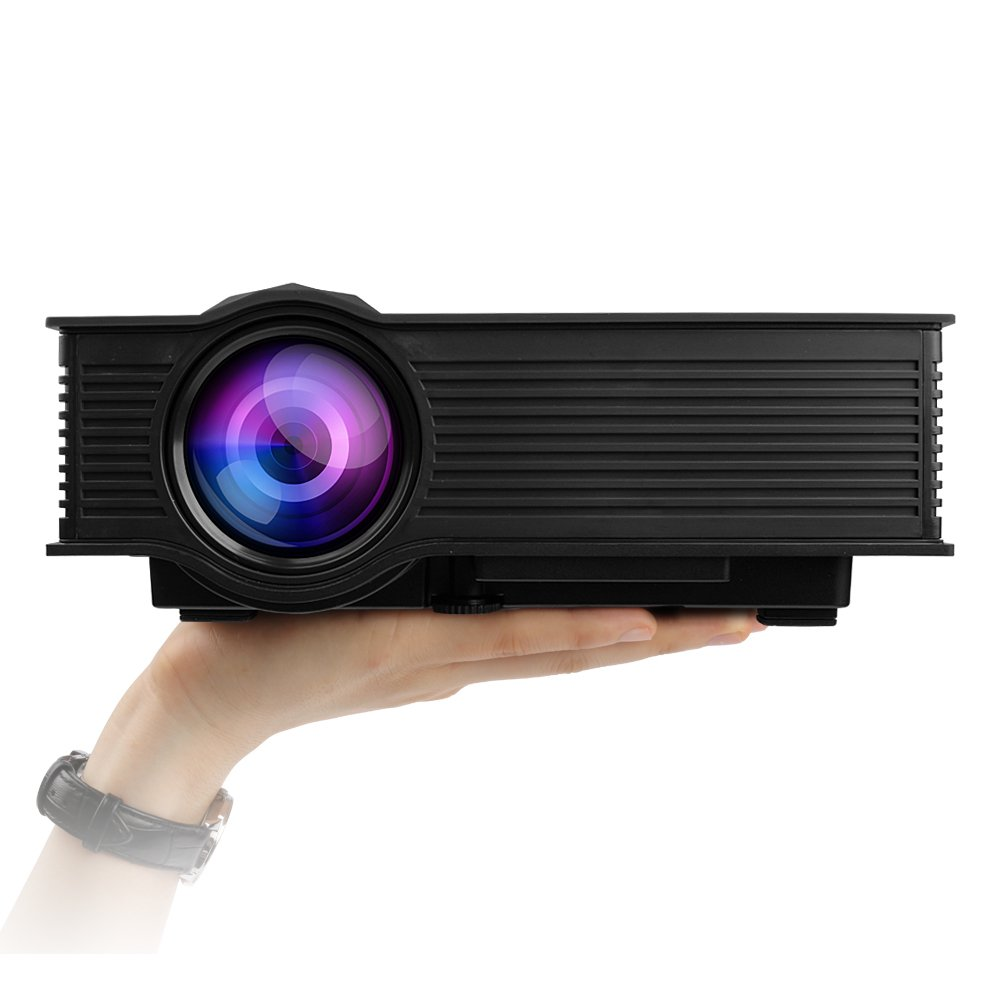 Mileagea LED Projector Mini Portable Multimedia 1080P Full HD Wifi Wireless Home Theater With IP IR USB SD HDMI VGA Miracast Airplay DLNA for Video Game Movie Cinema