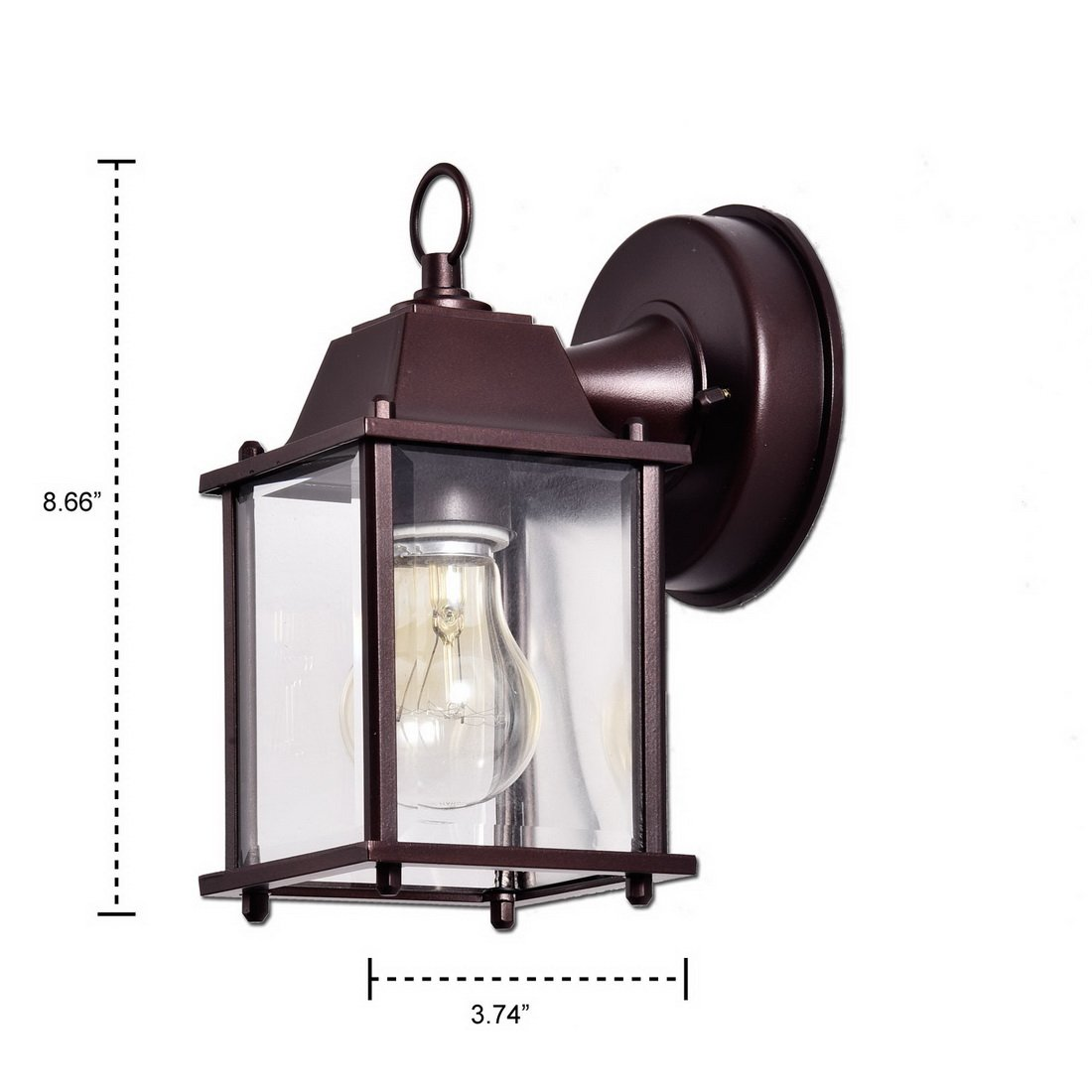 Truelite Vintage Style Outdoor Wall Sconce 1 Light Industrial Clear Glass Panels Wall Lanterns 1