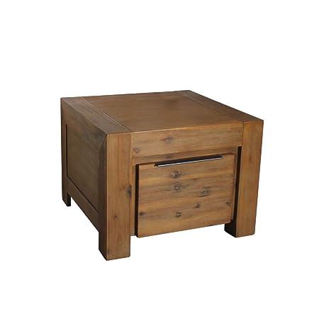 Florenz Couchtisch 60 x 60 cm Wohnzimmertisch Tisch Massivholz Akazie Massivholztisch